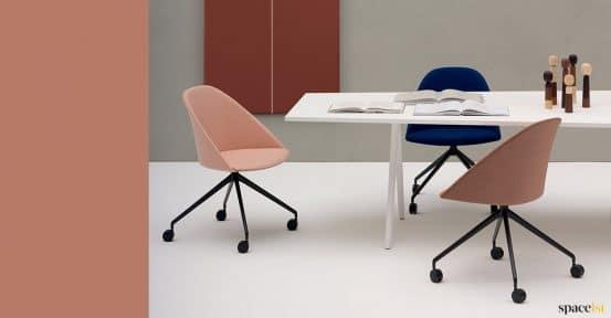 White meeting table designer