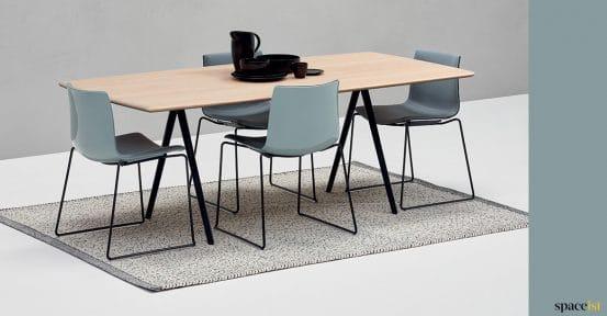 Oak meeting table