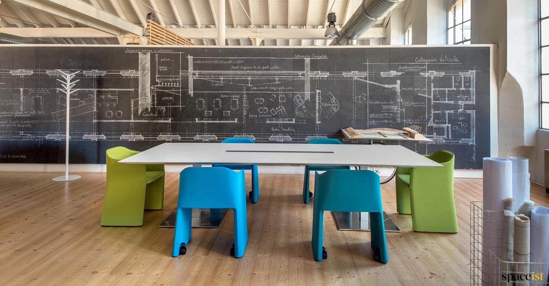 Meeting table blackboard