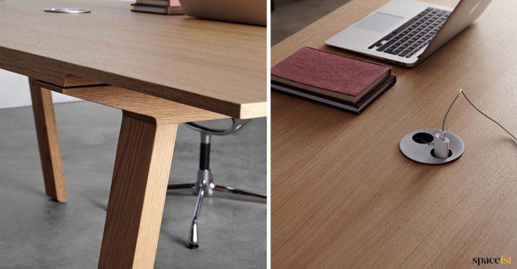 USB socket in meeting table