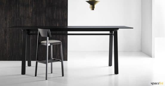 Black oak high meeting table