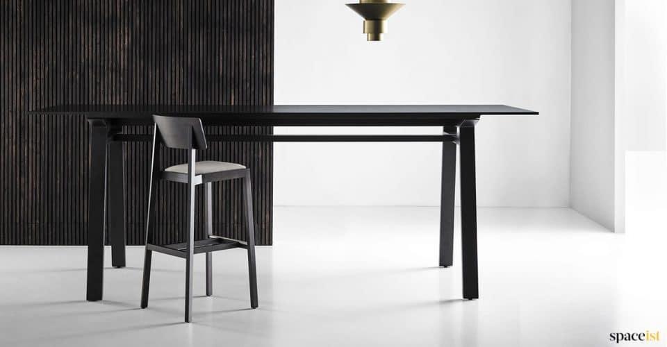 Black oak high meeting table