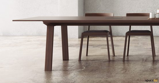 Chunky wood meeting table