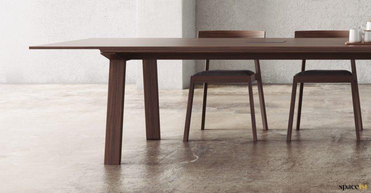 Chunky wood meeting table