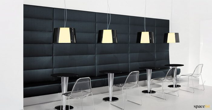 High back panel banquette soft seating