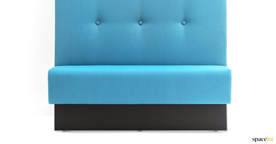 Banquette blue closeup