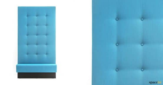 Very high back button banquette