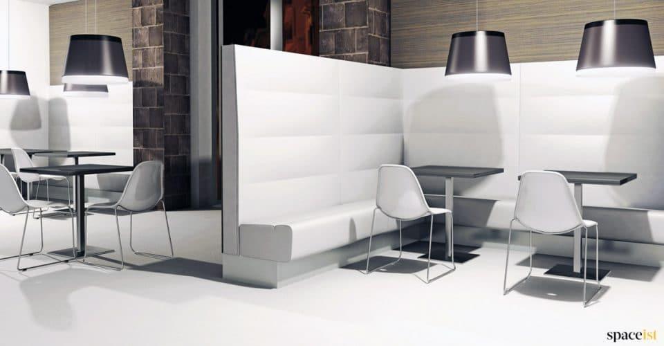Banquette corner seat white