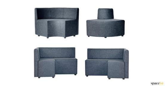 Cube corner seats