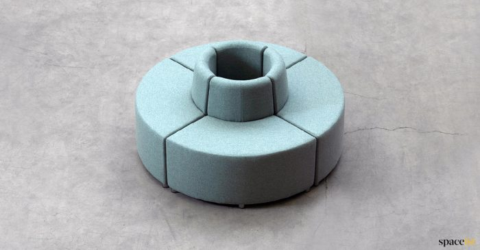Seating to go around a pillar or column
