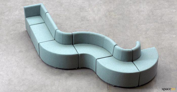 wavy lobby seat