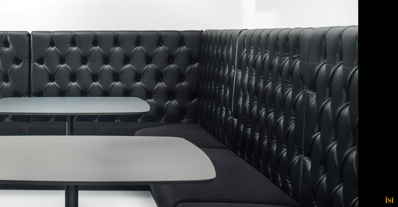 Modus Banquette Seating | Black Vinyl - Spaceist Furniture