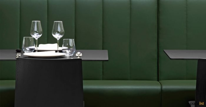 panalled banquette seating