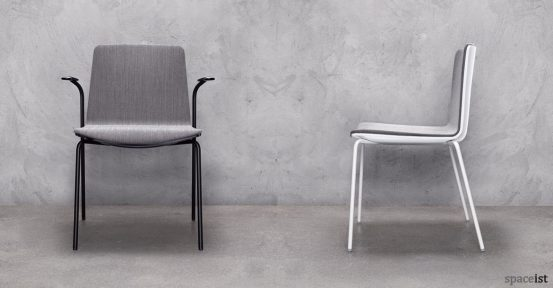 Noa black designer meeting chair with arm rests