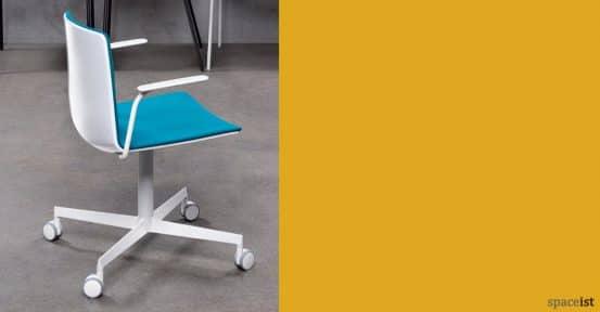 Noa white and blue modern chair