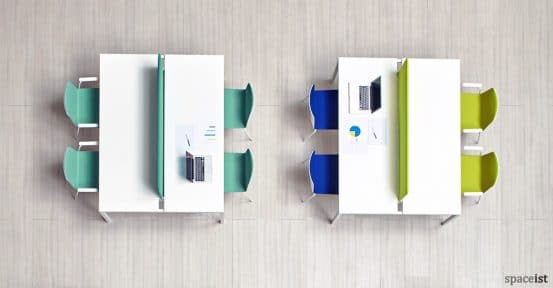 Noa green and blue meeting chair