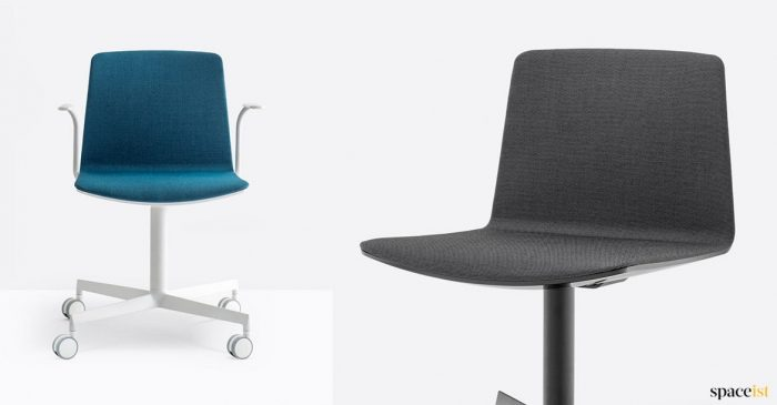 Blue + black desk chair