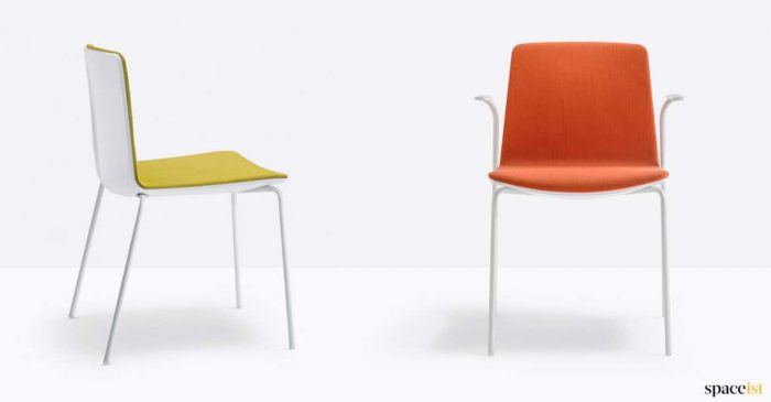 Yellow + orange meeting chair