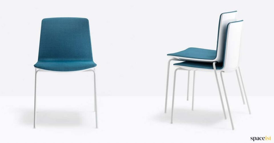 Blue stackable meeting chair