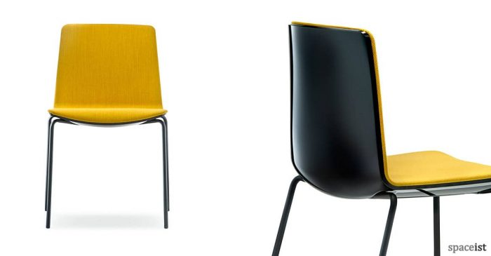 Noa meeting chair in yellow and black