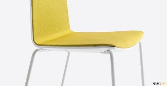 Yellow + white meeting chair
