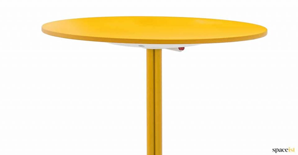 Yellow round cafe table