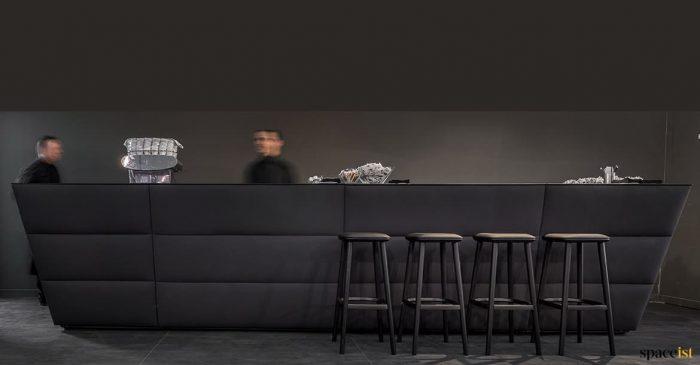 Modular reception desk in black