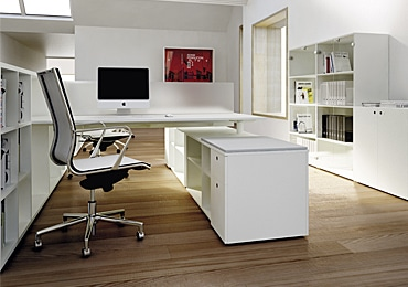 Office Desk + Cabinets