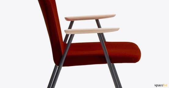 Red chair closeup