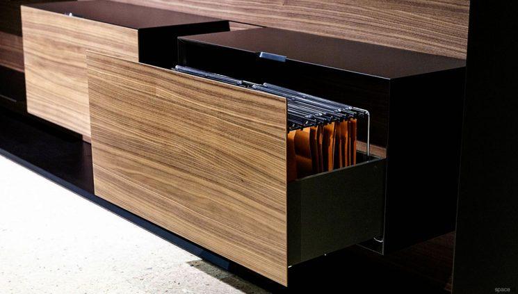 Walnut filing drawer
