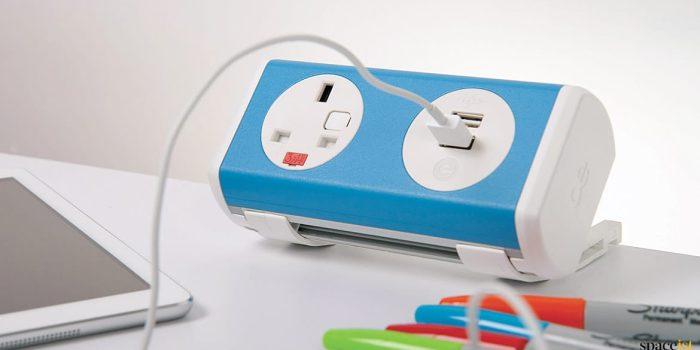 Blue designer socket point