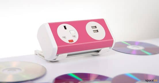 pink socket point for desk