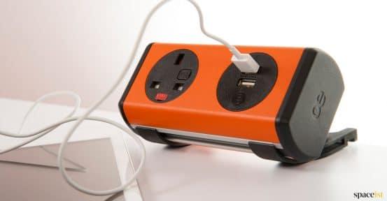 Orange ipad USB charger