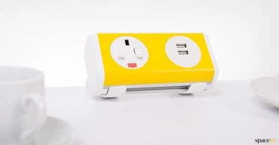 Yellow small socket point for desk
