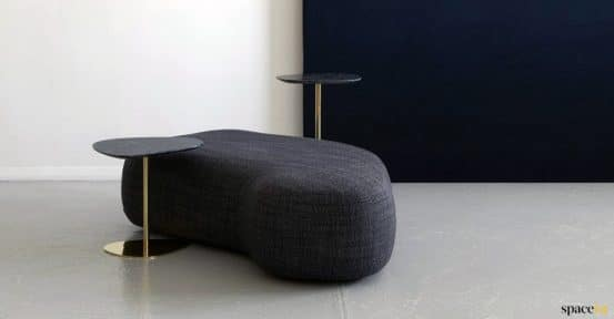 black stone shaped seat
