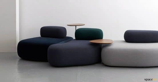 large pebble type sofas