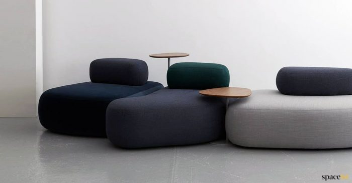 large pebble type sofas