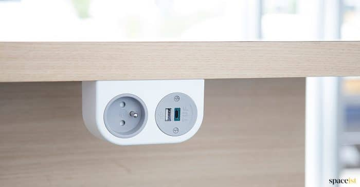 Phase under desk USB socket
