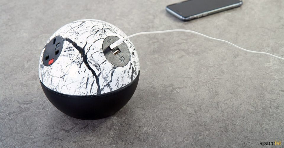Charging point with tree image