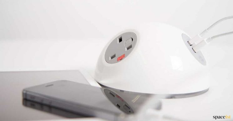 white dome shaped charger for library's