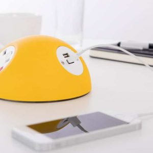 Yellow iphone charger