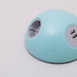 Pastel blue USB point for schools