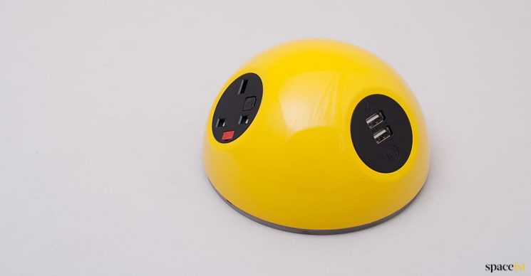funky yellow plug point for schools + libraries