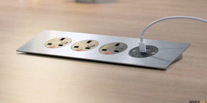 four plug socket meeting table