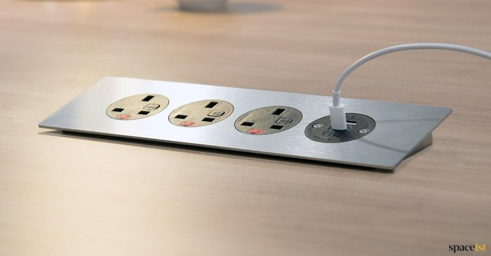 four plug socket meeting table