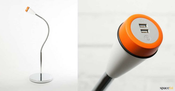 USB iphone charger on flexible stand