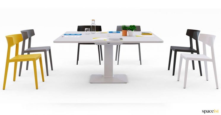 Large square office meeting table