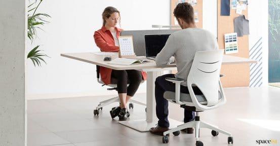 Large square hieght adjustable desk