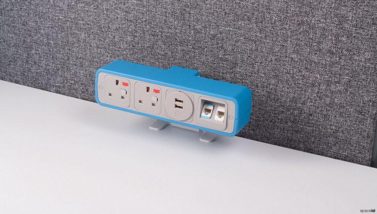 Blue plug socket for office
