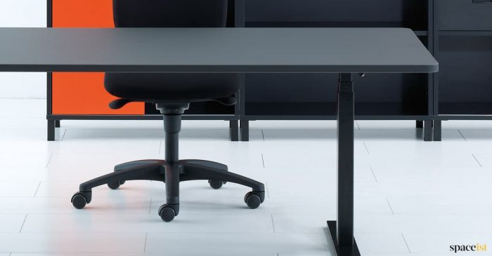 Q20 standing desk closeup
